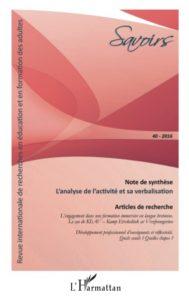 Revue Savoirs - Couverture du n° 40