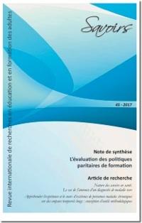 couverture revue Savoirs n° 45